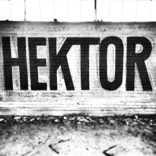 Painted some letters today Hektor Hektormademedoit Spraypaint Blackandwhite abandoned