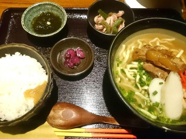 ソーキそば定食 Lunch Time! Delicious ♡ 東銀座 Okinawa Food Cool