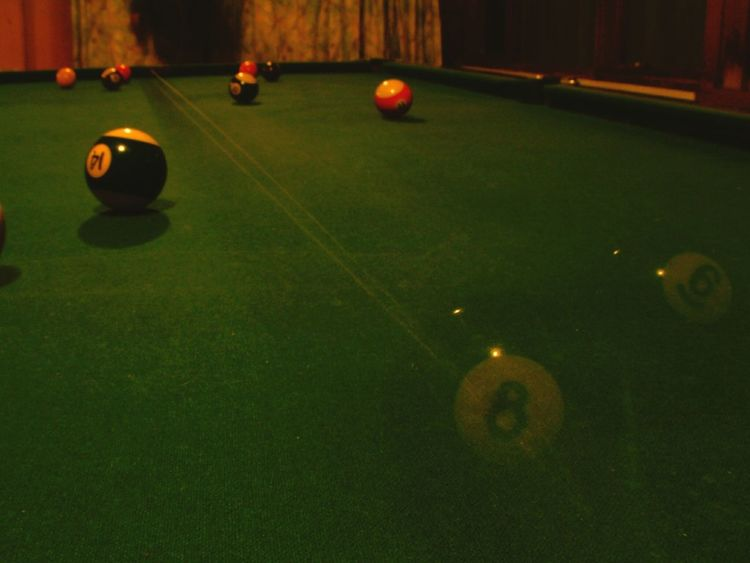 8 Ball Pooltable Long Exposure Photography In Motion Long Shot Pool Balls