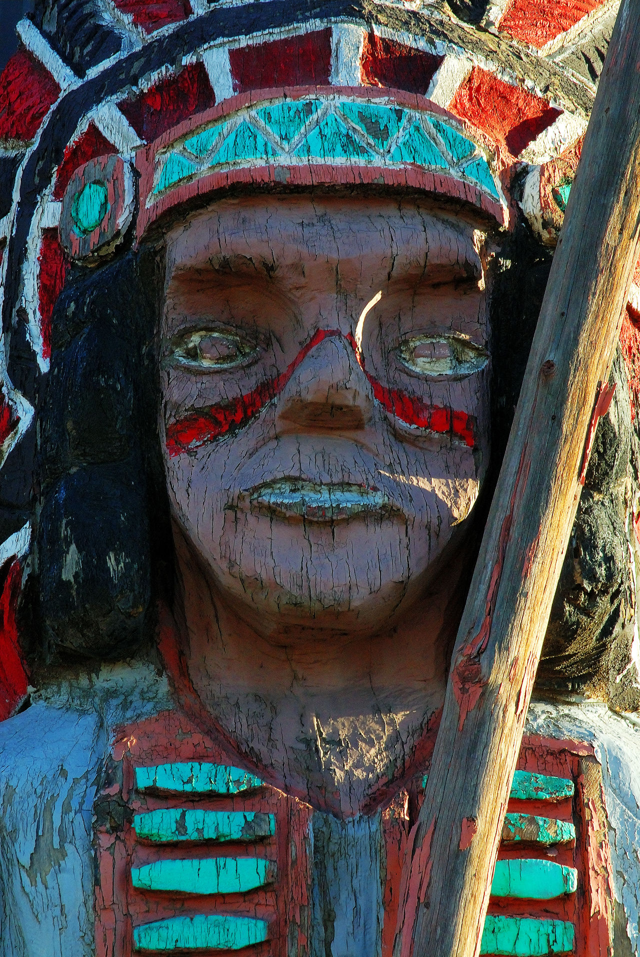 Close-up Day Multi Colored Native American Indian No People Outdoors Sculpture Wooden Indian