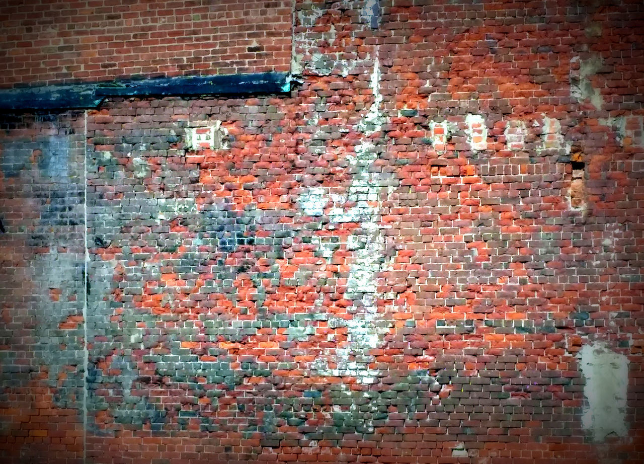 Old Red Brick Wall Architecture Brick Brick Wall Building Exterior Built Structure Close-up Day Dirty Full Frame Ghetto No People Obsolete Old Outdoors Paint Painted Image Red Rotting Rough Rusty Textured  The Street Photographer - 2017 EyeEm Awards Wall - Building Feature Weathered