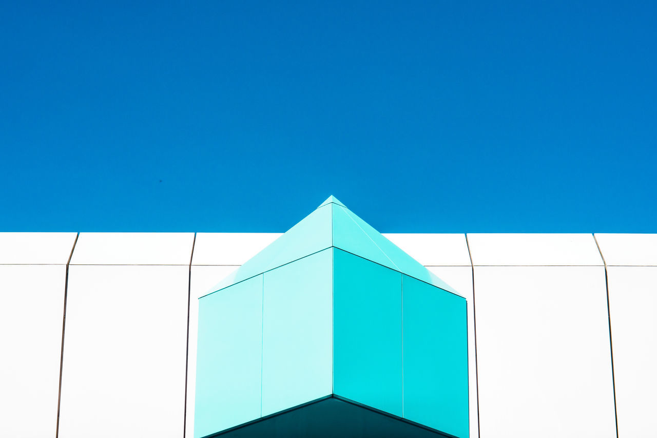 blue variations Architecture Architecture Blue Clear Sky Copy Space Day Low Angle View Minimalism Minimalist Architecture Minimalobsession No People Outdoors Sky