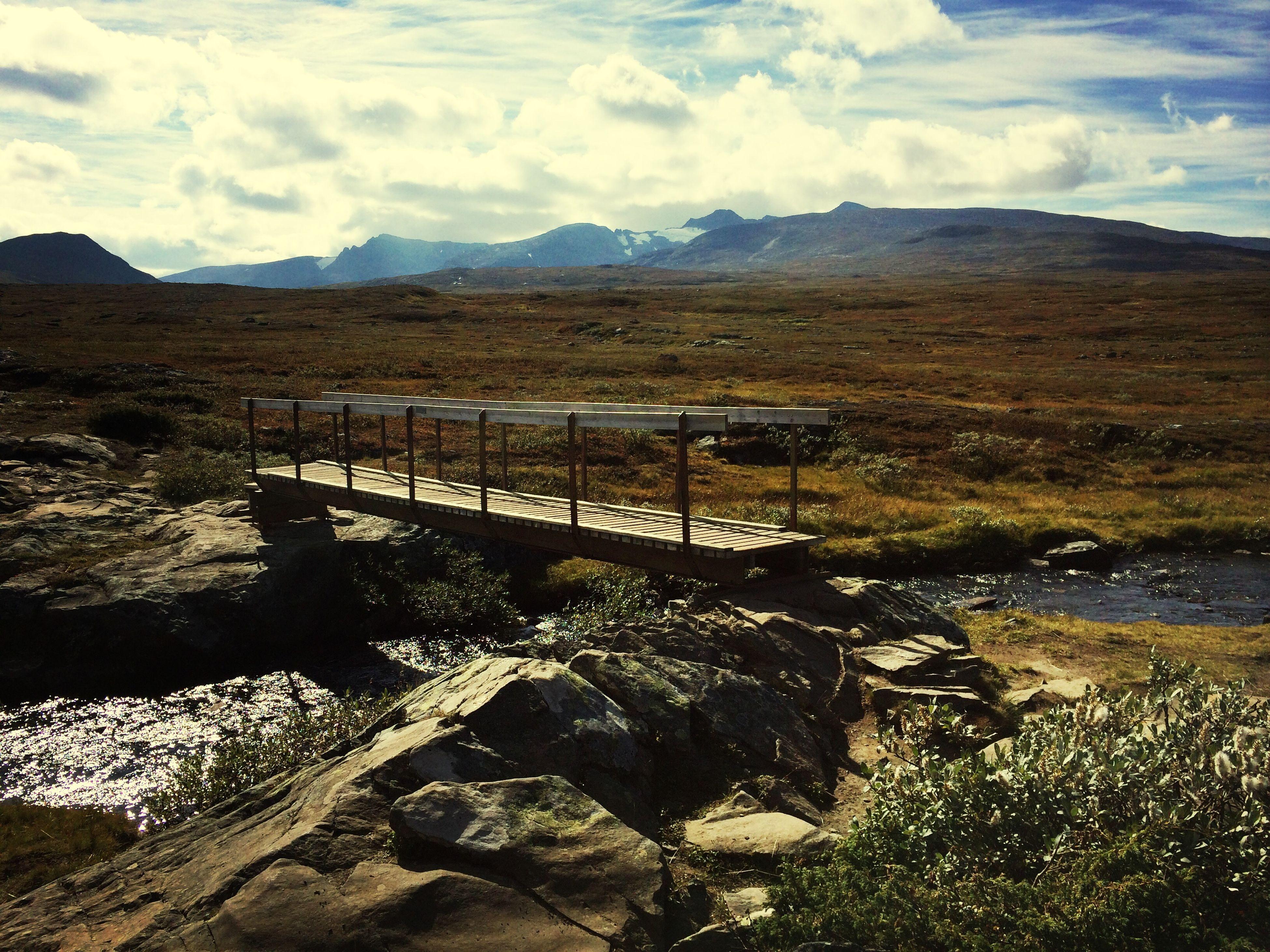 Walking Swedish Mountains Tranquility Water