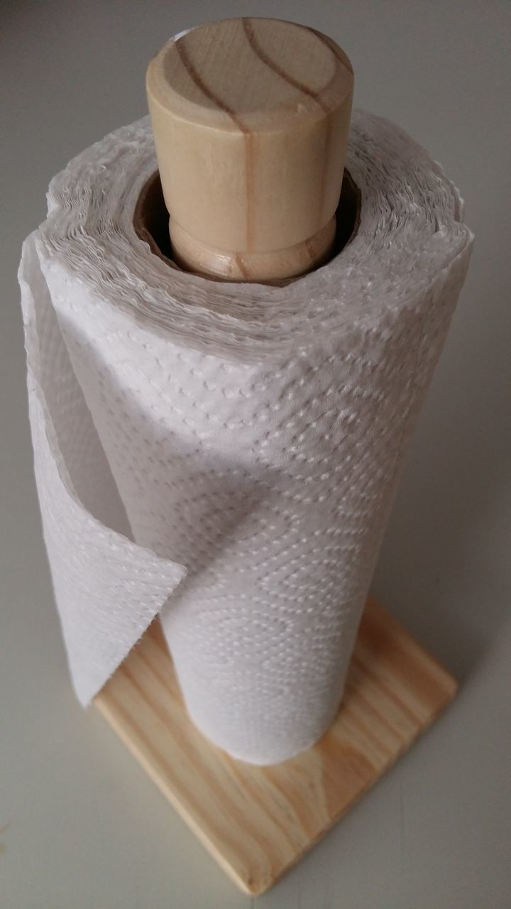 High Angle View Of Rolled Up Tissue Paper