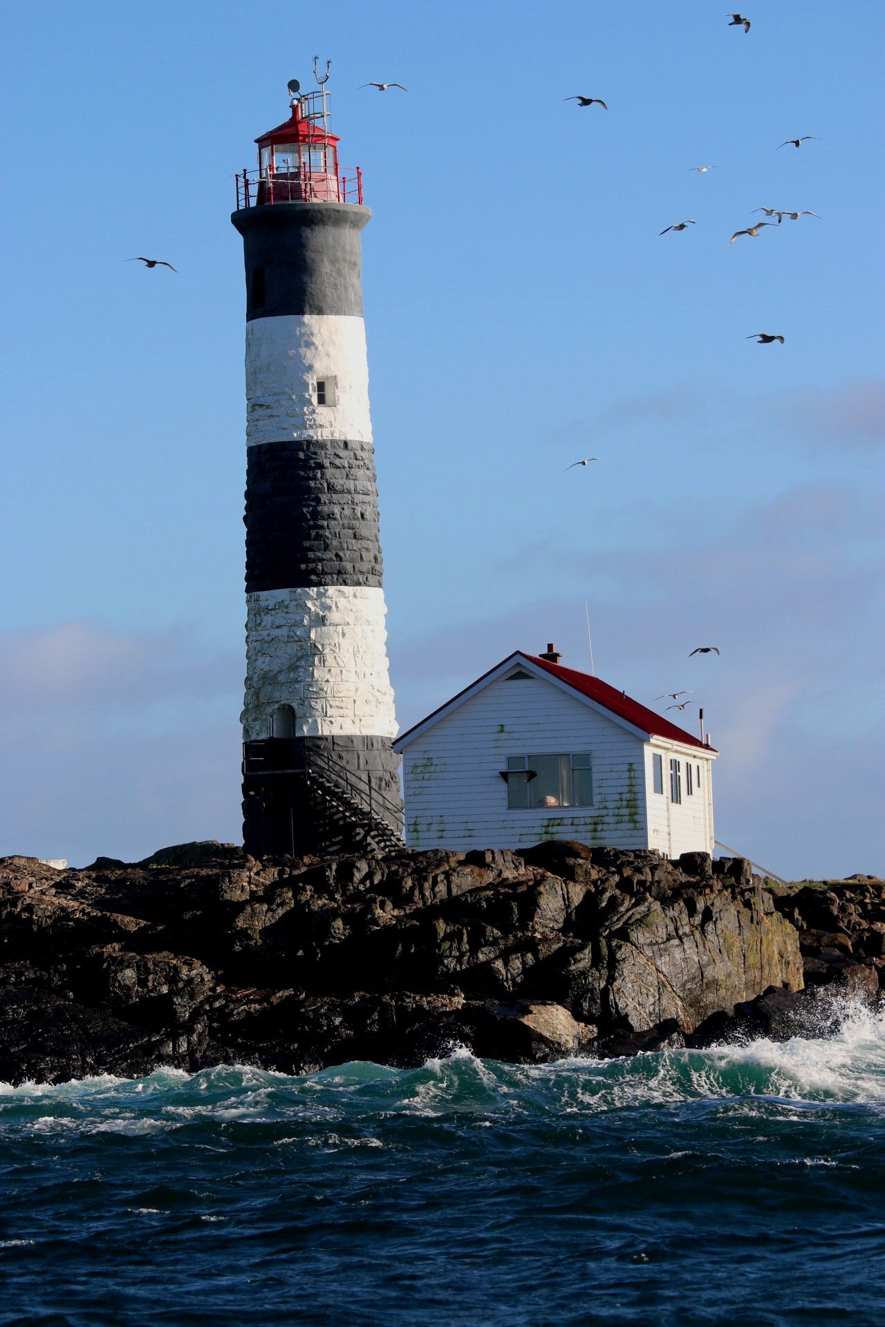 Lighthouse Built Structure Architecture Sea Building Exterior Guidance Water Direction Waterfront Tranquility Outdoors Nature No People Day Sky Beauty In Nature Ocean British Columbia Victoria Rippled