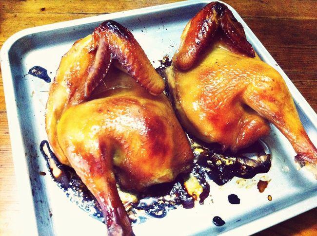 自家烤鸡 今天碎懒觉 被说了
