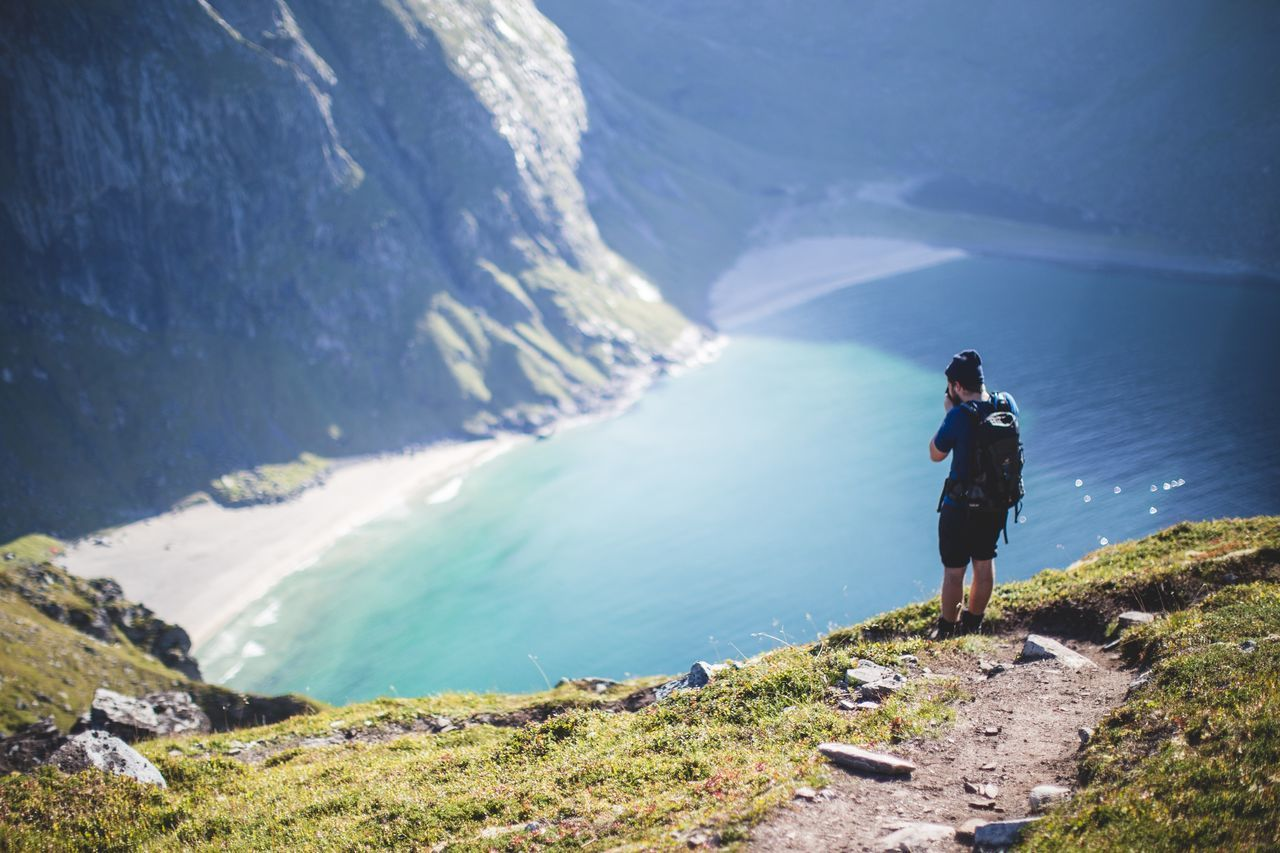 Beautiful stock photos of norway, Backpack, Casual Clothing, Day, Focus On Foreground