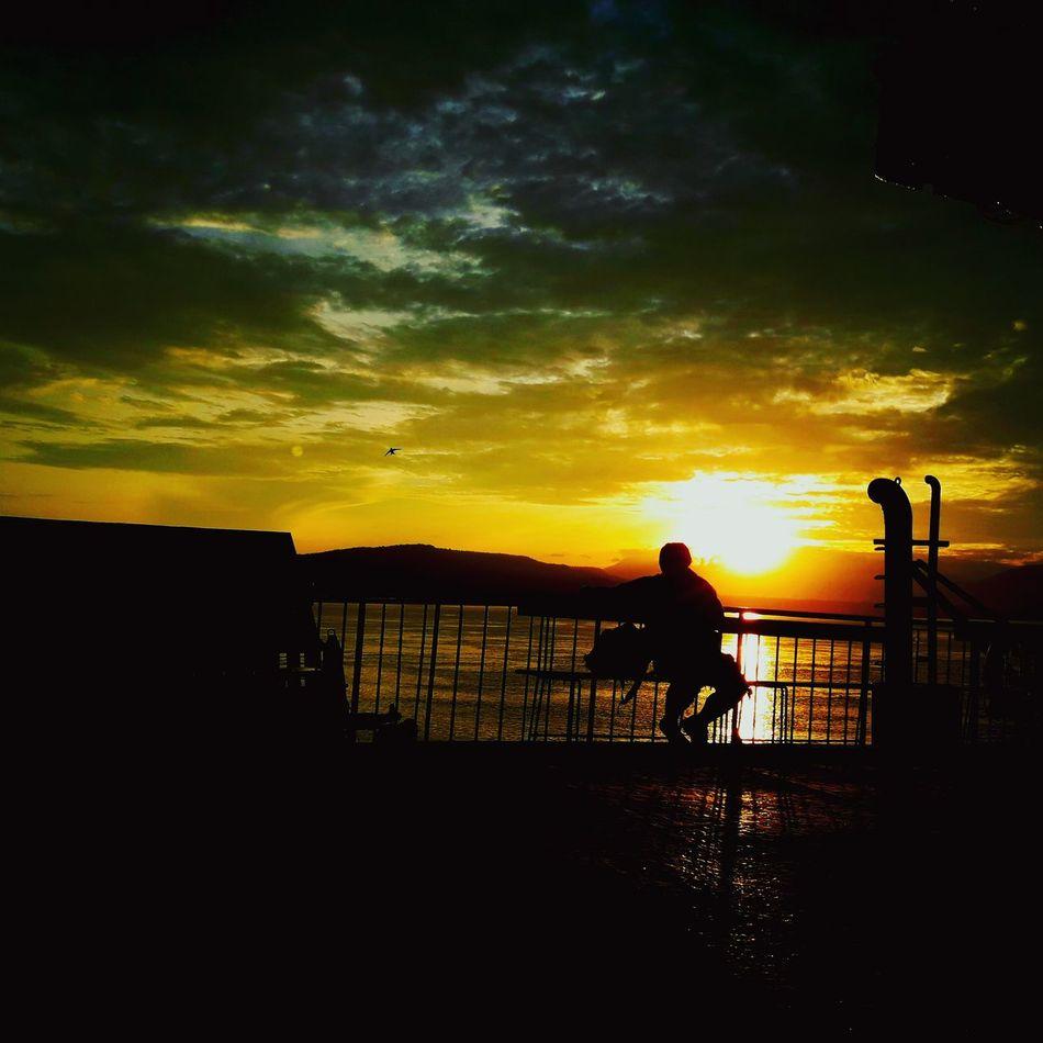 Gilimanuk - Bali Harbour Sky Alone Time Calm Sunrise