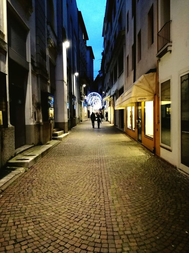 Father&Son in a december afternoon in town (2016). Illuminated The Way Forward City Walking People Father And Son Italy Architecture Christmas Lights Cristhmas Santa Claus Mywaytohome Real People Street Iconico