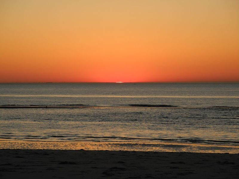 Nofilter No Filter Beach Beauty In Nature Clear Sky Day Dusk Horizon Over Water Idyllic Nature No People Orange Color Outdoors Scenics Sea Silhouette Sky Sun Sunset Tranquil Scene Tranquility Travel Destinations Water Wave