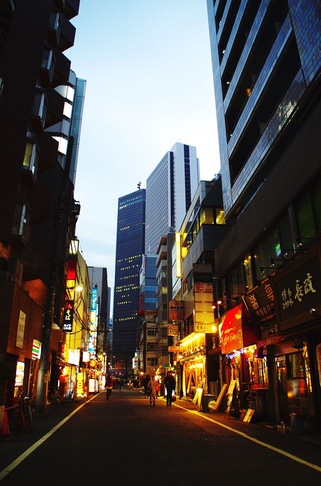 Building Exterior Illuminated City Architecture Built Structure Sky Outdoors Skyscraper No People Night SHINJYUKU Japan