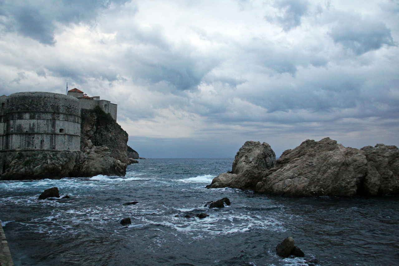 Dubrovnik,ancient fortress Bokar,Croatia,Europe,2 Adriatic Coast Ancient Architecture Architecture Bokar Building Exterior Cloud - Sky Day Dramatic Sky Dubrovnik, Croatia Fortress History Idyllic Nature No People Outdoors Power In Nature Rock - Object Scenics Sea Sky Storm Clouds Travel Destinations Water Wave
