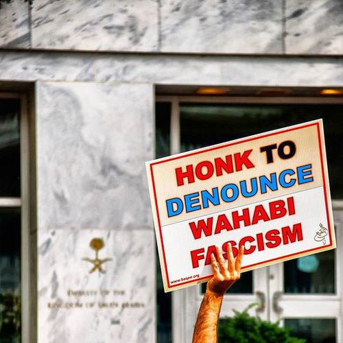 The annual Baqee protest in WashingtonDC for the preservation of heritage. Hundreds of people gathered together holding signs to protest for the reconstruction of Jannatulbaqee which was destroyed on 8shawal by the King Ibn Saud. Jannat Al-Baqee is a cemetary located in Madinah next to the shrine of ProphetMuhammad which has the graves of four Imams. Destruction of sacred sites in Hijaz by the Saudi Wahabis continues even today. Visit www.baqee.org for more information. Rebuildbaqee Preserveharitage Islam Muslim Destruction Protest Baqee Yaalimadad Reconstruction Wahabiterrorist Fascism SaudiEmbassy Ztprod