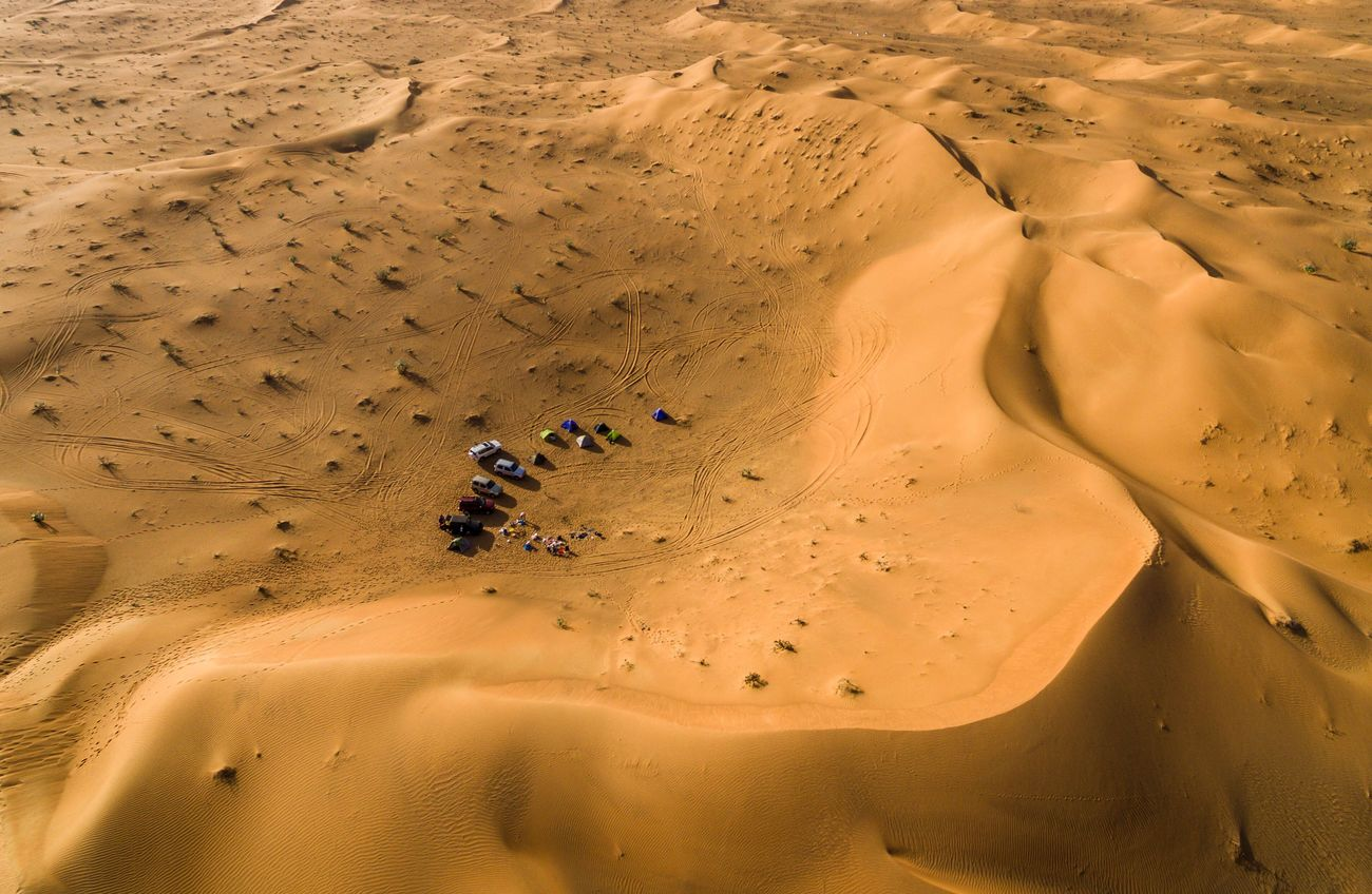 Nice week-end in the Desert with Friends ! Dubai Sand Dune DuneBashing UAE Drone  Dronephotography Droneshot