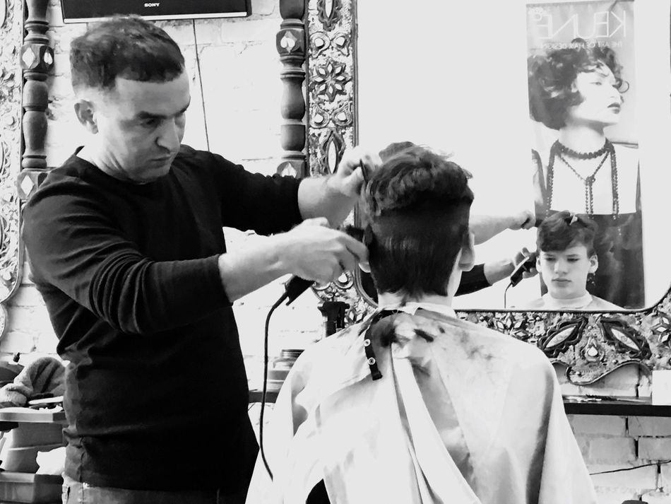 Barbershop Scary Haircut Time Short Styling Boy Becomes Man Summertime Turkish Style