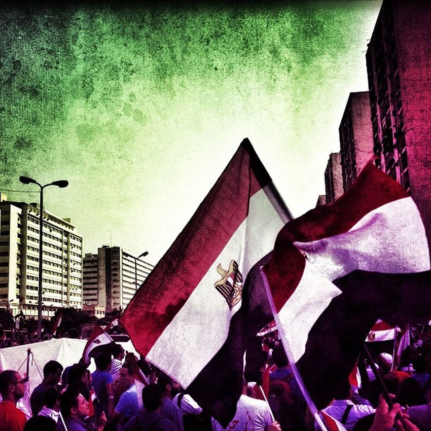 """#BelovedEgypt - Waving Egyptian flags and carrying posters of Morsi crossed out in red, crowds packed Heliopolis' Salah Salem Road (Orouba), near the presidential palace, thunderous chants of """"erhal!"""", or """"leave!"""" rang out. Qatar Picoftheday Belovedegypt Q8 Me Follow Sun TBT  Bestoftheday Beautiful Igers Sky UAE Love Jj  Bahrain Tweegram KSA Instagood Egypt Instagramhub Kuwait Webstagram Oman Instadaily Photooftheday Tagsforlikes Iphonesia Magicalarabia"""