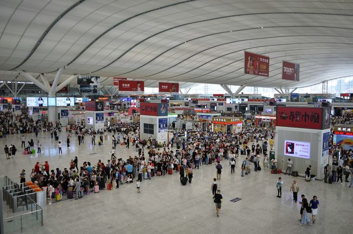 Large Group Of People Crowd Built Structure Men Real People Leisure Activity Architecture People Day Women Indoors  Adult Adults Only Shenzhen China Railway Station Holiday Chinese Holiday Connected By Travel
