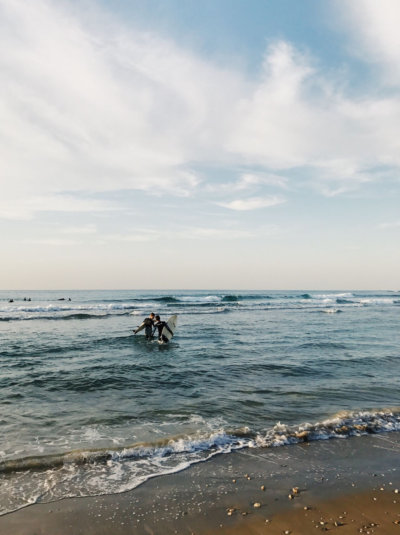 Sea Water Horizon Over Water Sky Nature Real People Beauty In Nature Beach Scenics Cloud - Sky Lifestyles Outdoors Day Two People Men Adventure Sport People The Great Outdoors - 2017 EyeEm Awards IPhone7Plus מייאייפון7 Shotoniphone7plus מייים