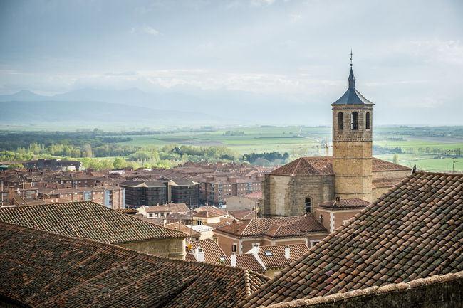 Caceres Spain Architecture Building Exterior Built Structure City Cityscape Cloud Cloud - Sky Crowded Cáceres Day High Angle View Horizon Housing Settlement Mountain No People Outdoors Residential District Roof Rooftop Sky SPAIN Town TOWNSCAPE Water Wide Shot