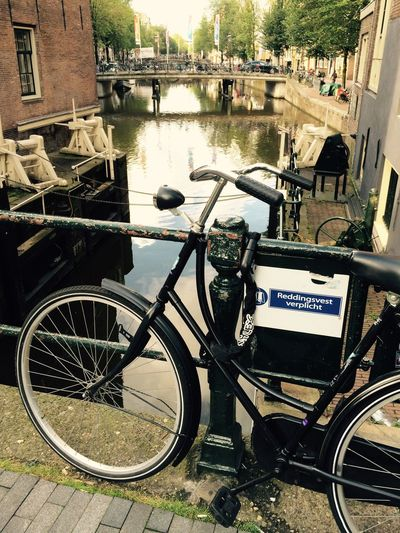 Bysicle Water Amsterdam Holland