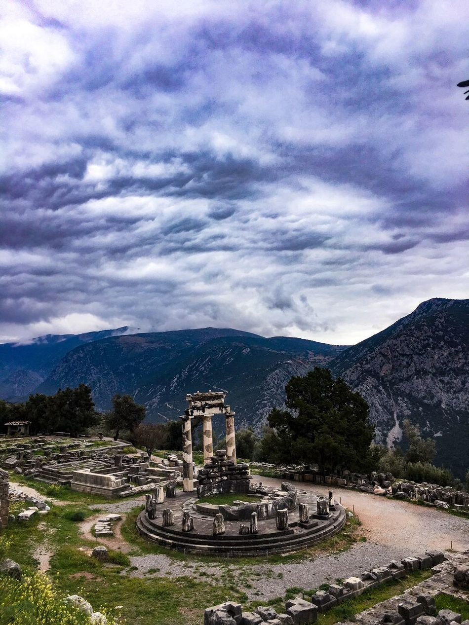 Greece Delphi Oracle History Architecture Ancient Ancient Civilization Outdoors No People Nature Landscape Mountain Scenics Mountain Range Cloud - Sky Travel Destinations Travel Photography