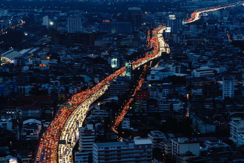 Beautiful stock photos of twilight, Aerial View, Architecture, Bangkok, Building Exterior