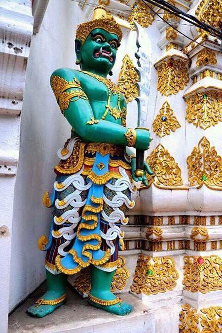 Sentinel Decor Of Temple Temple Chaingmai Chaing Mai Tailand