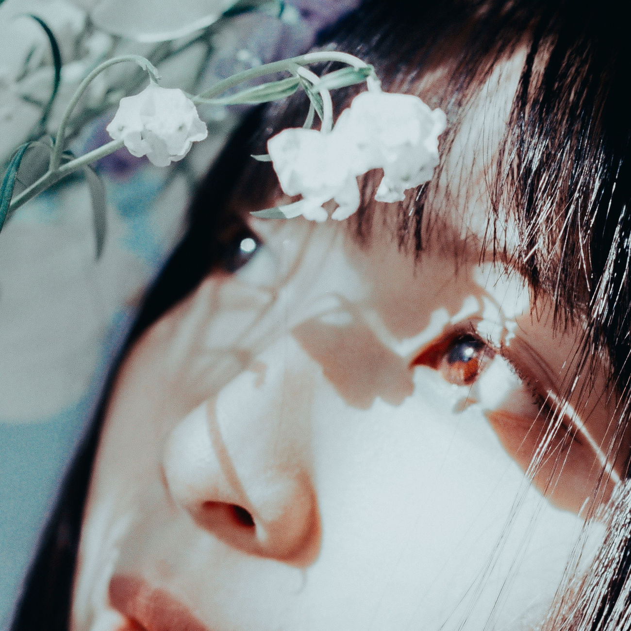 Childhood Close-up Day Flower Fragility One Person Outdoors People Real People The Portraitist - 2017 EyeEm Awards Young Adult