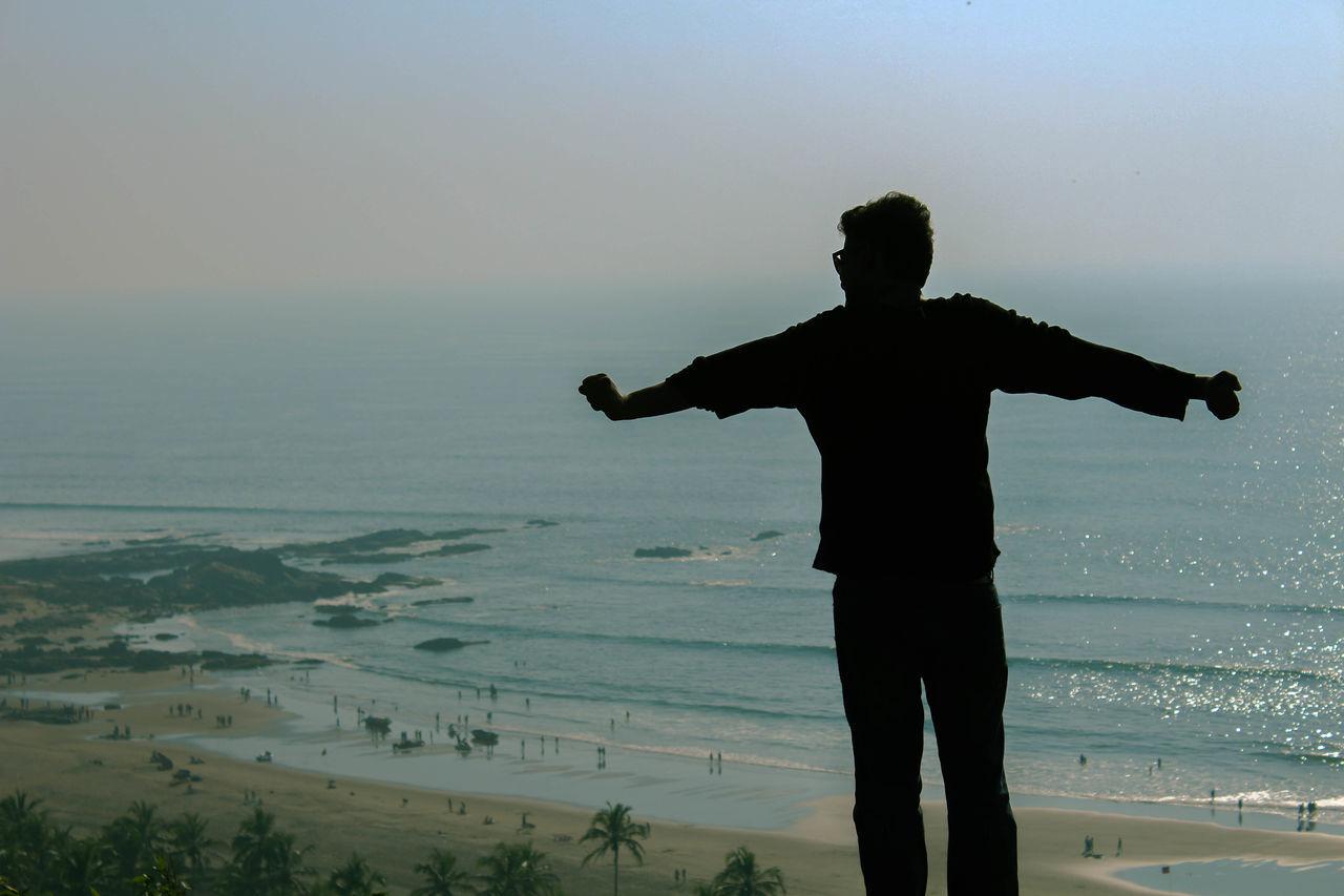 Beautiful stock photos of bora bora, sea, standing, one person, sky