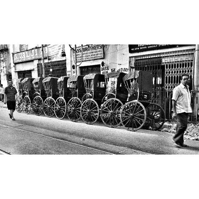 Before setting out for the day! Rickshaws Incrediblecalcutta Blackandwhite Whywealllovecalcutta Calcutta