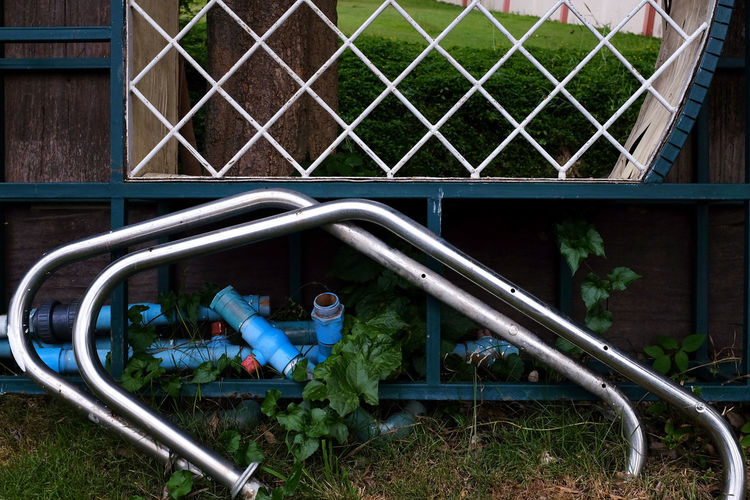 Fence Junk Metel Outdoors Pipe Stuff Trash Unwanted