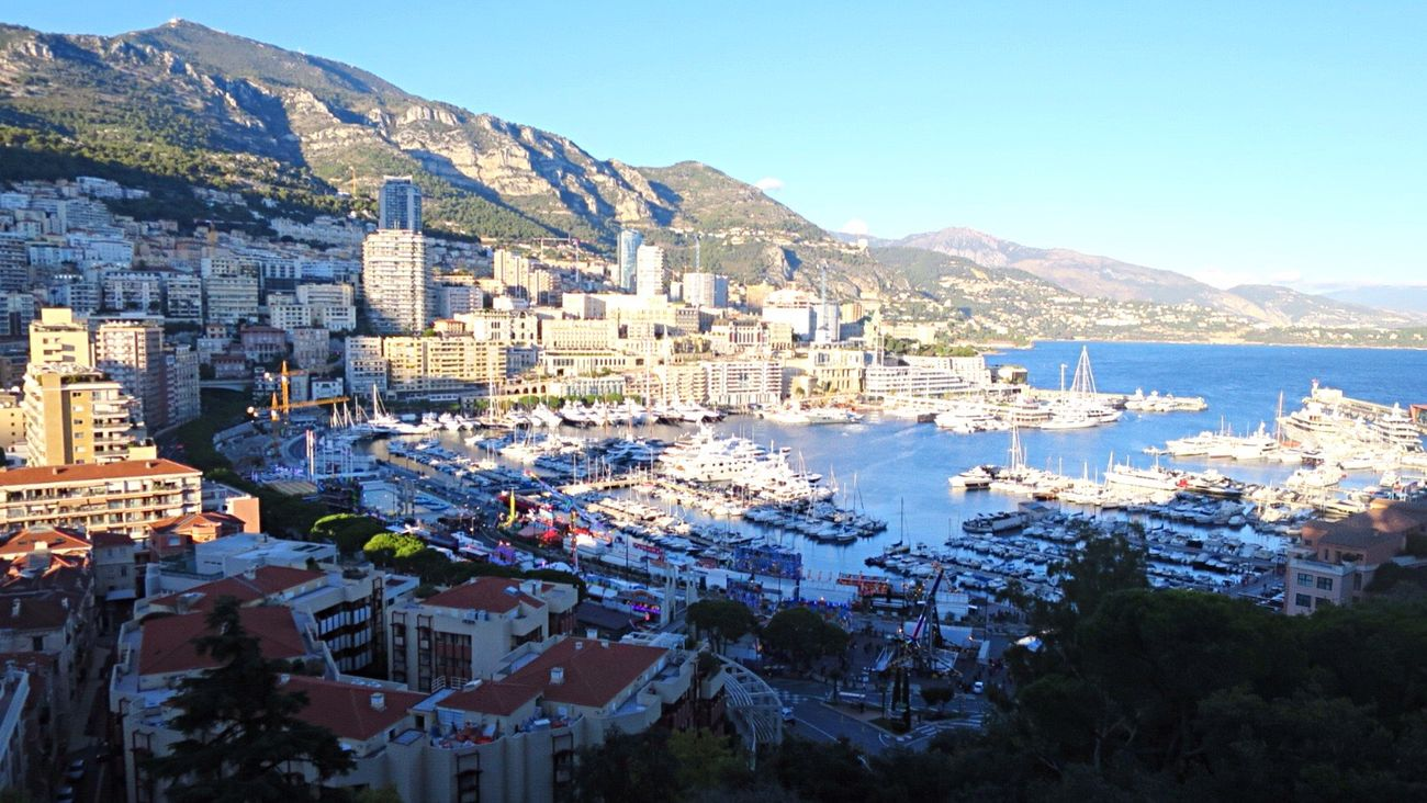 Monaco Architecture Building Exterior Built Structure Clear Sky Residential Building Town Water Sky Scenics Tree Sea House No People Outdoors City Cityscape Day Beauty In Nature Nature Monaco France South
