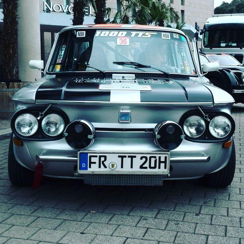 Nsu Nsutts TTS Racecar Classic Car Vintage Cars Soloparking Freiburg Schauinsland More Lights Lights Chrome Smile