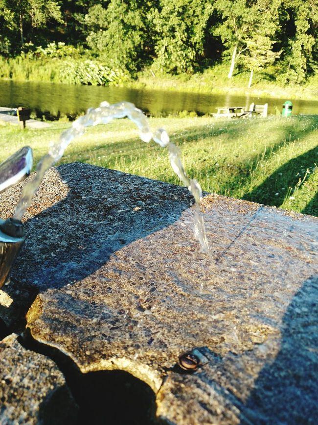 On The Lake Lake View Enjoying Life Rehydrate Water Fountain Signsofsummer