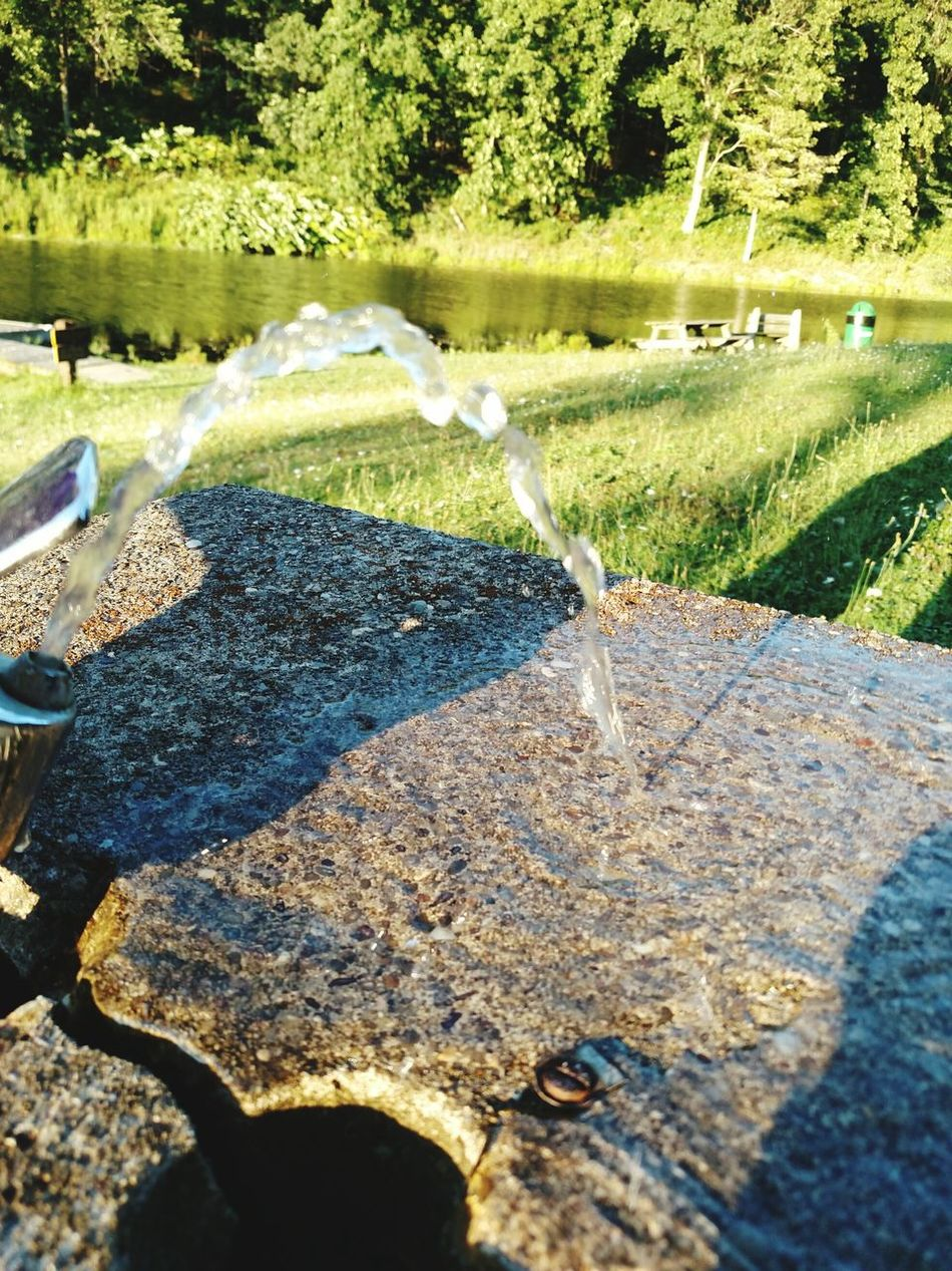 On The Lake Lake View Enjoying Life Rehydrate Water Fountain Signsofsummer