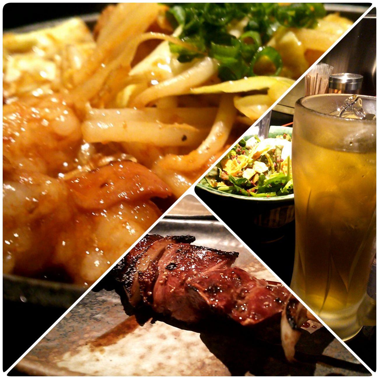Food Porn In My Mouf Enjoying A Meal Enjoy A Meal Ikebukuro Tokyo Ikebukuro やきとり お酒 Hakata Motsuni 店名\(°Д° )/忘れました 牛モツのぷりぷり鉄板煮、レバー、ちょいとサラダとお酒です(´艸`)ウマー