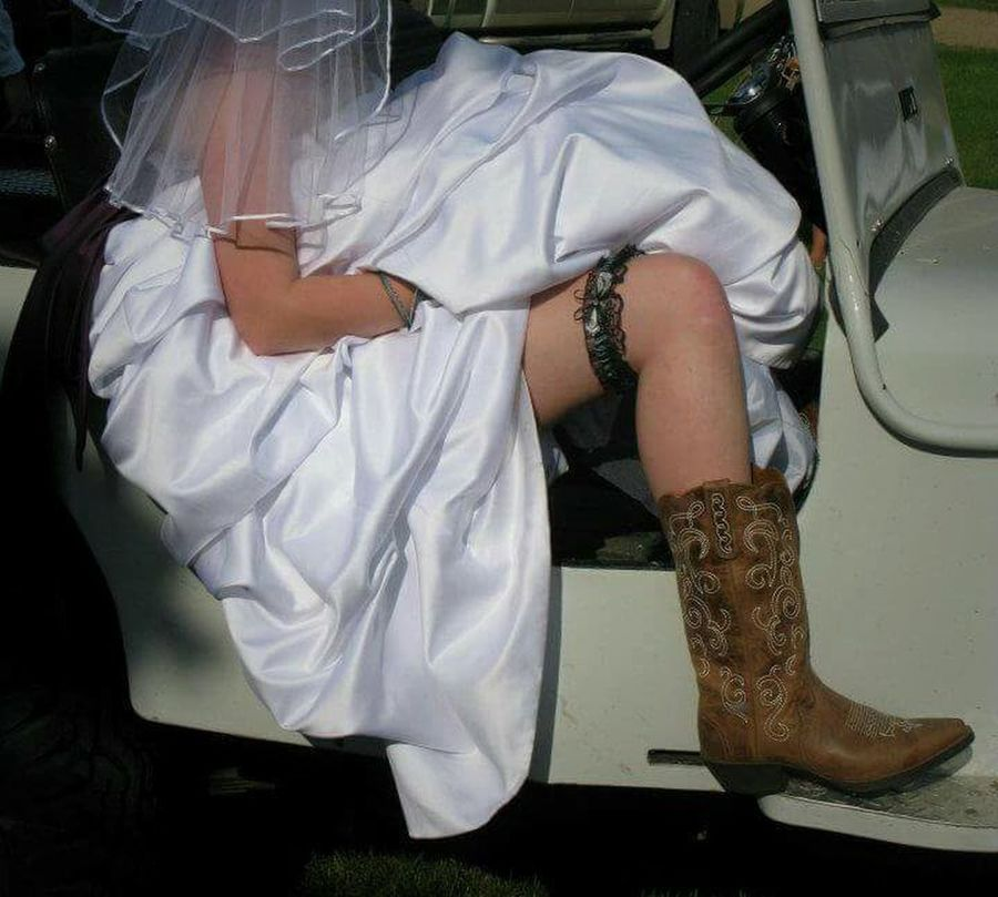 Abundance Boots Bride Bride With Cowboy Boots And Garter! Bridesmaid Composition Cowboy Boots Garter Happiness Indoors  Looking Love Occupation Part Of Person Perspective Wedding The EyeEm Facebook Cover Challenge