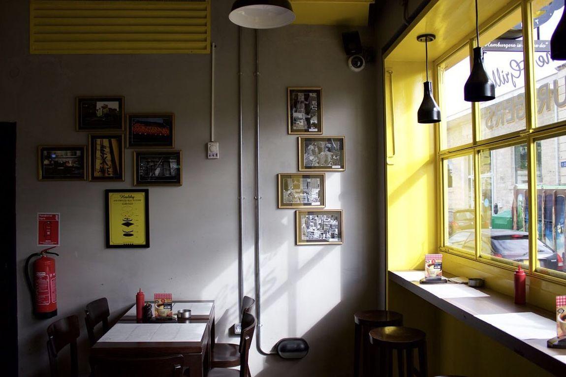 Inside Table Restaurant Decor Fireextinguisher Yellow Black Inside Picoftheday