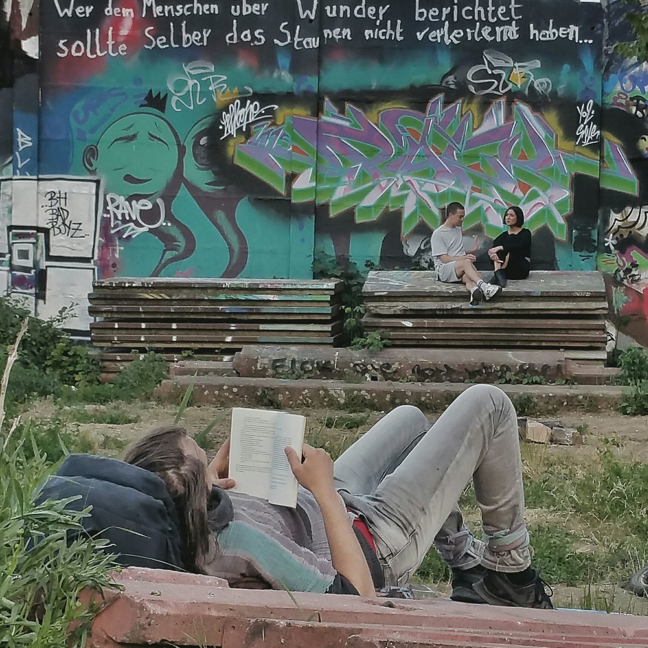 did i tell you lately that i love you, My Fuckin Berlin ? Berliner Ansichten Urbexexplorer Reading & Relaxing Urban Romantic Urban Escape Reading A Book Street Art Open Edit
