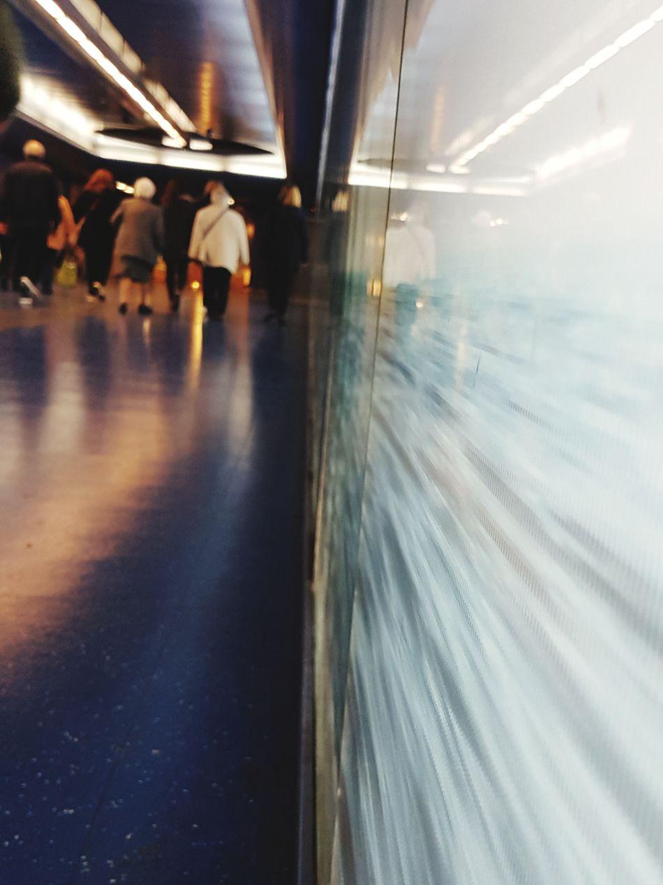 Passenger Travel Metro Station Napoli Italy Naples