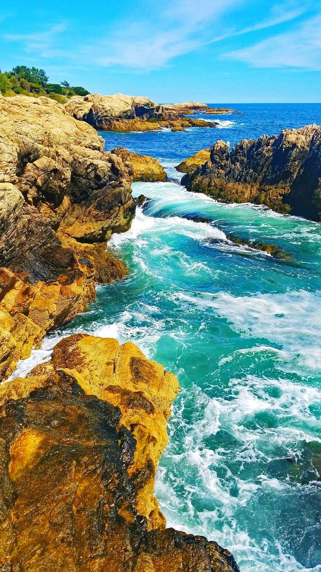 Coastline Shore Sky Ocean Blue Scenics Water Sea Beach Surf Wave Nature Coastal_collection Beauty In Nature Summer Tranquil Scene Ocean View Coastline Layers And Textures Layers And Colors Adventures Coastal Nature Photography Beachphotography Morning View