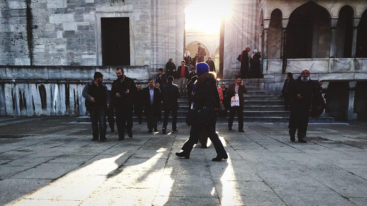People People Watching Streetphotography Street Photography Walking Around Sun Mosque Turkey The Street Photographer - 2015 EyeEm Awards Urban Lifestyle The City Light