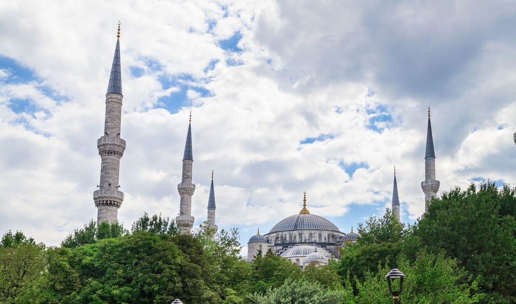 Blue Mosque in Istanbul, Turkey Architecture Art Beautiful Blue Mosque Building Exterior Builiding Built Structure City Cityscape Cultures Day Dome Istanbul Landscape Old Outdoors Religion Sky Stone Tourism Tower Travel Turkey Urban Skyline