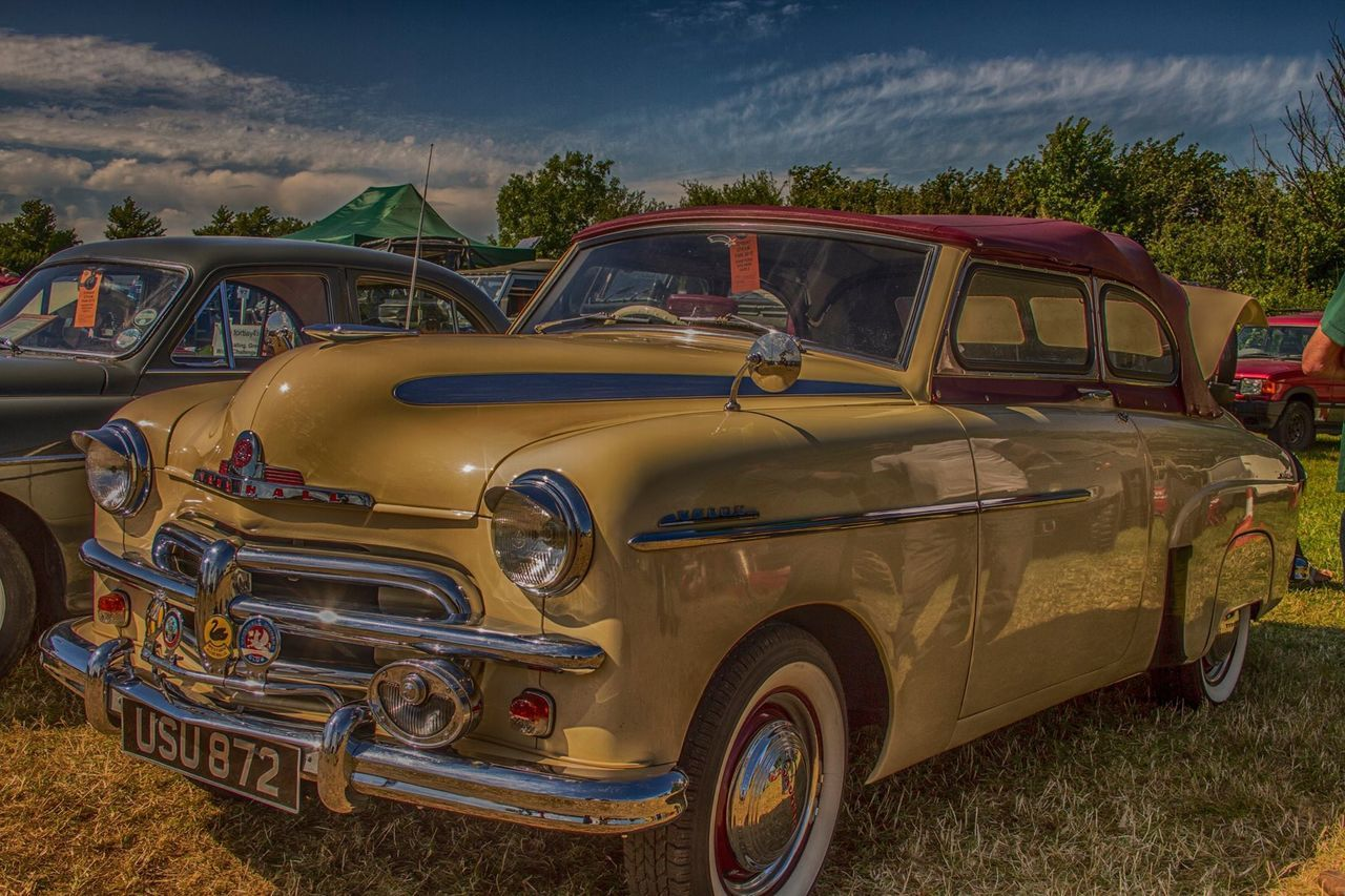 transportation, land vehicle, mode of transport, car, retro styled, day, old-fashioned, outdoors, no people, sky
