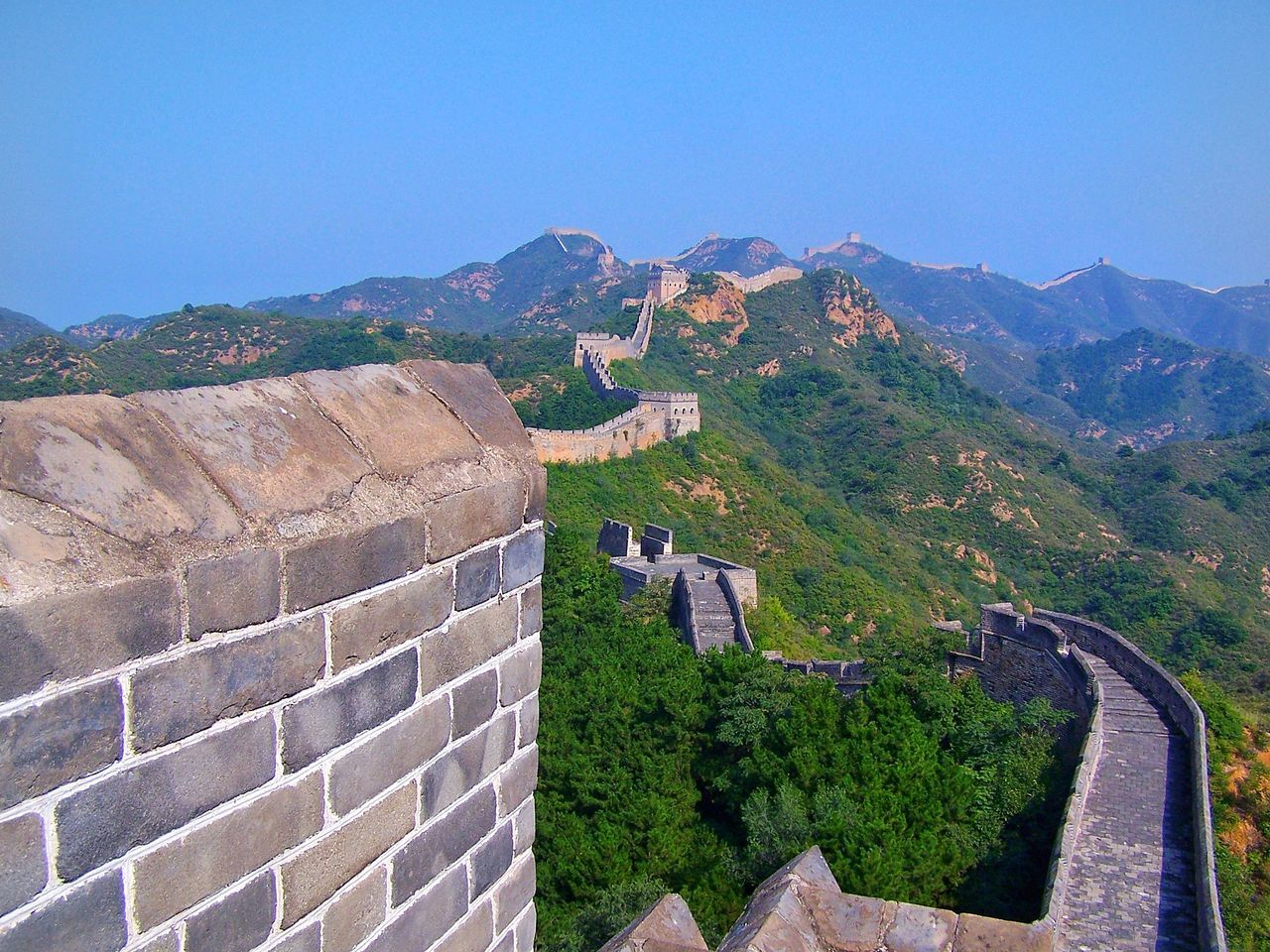 Mountain Mountain Range Outdoors Landscape Nature Scenics No People Beauty In Nature Sky Day Wall Bricks Great Wall Of China First Eyeem Photo Cultures Nature Travel Destinations Tourism Panoramic Panorama Long Stretching Majestic