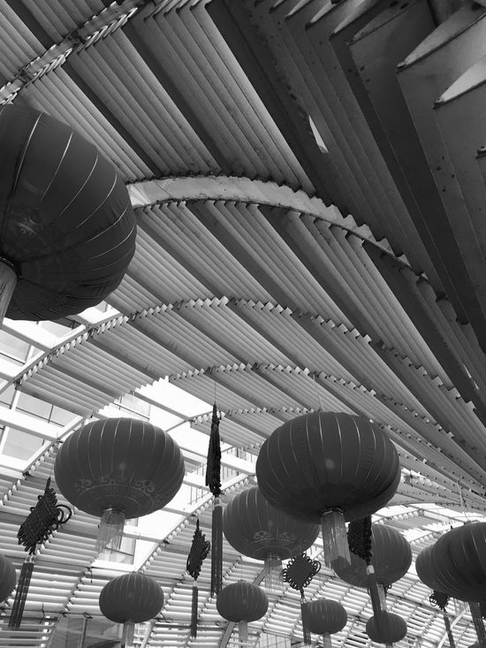 Chinese Hanging Lanterns and Chinese Knots in Shenzhen, China Chinese Lanterns Chinese Chinese Knot Black And White Lanterns Shenzhen Hanging Lanterns Traditional Chinese Paper Lanterns Chinese Culture China Black And White Photography Traditional Culture Knots