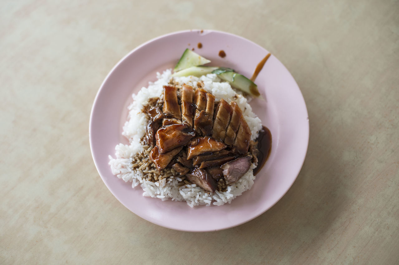 Char Siew and Roast Pork with Rice Char Siew Char Siew Roasted Pork Rice Charsiew Close-up Day Food Food And Drink Freshness Healthy Eating Indoors  No People Plate Ready-to-eat Rice Roasted Pork Table