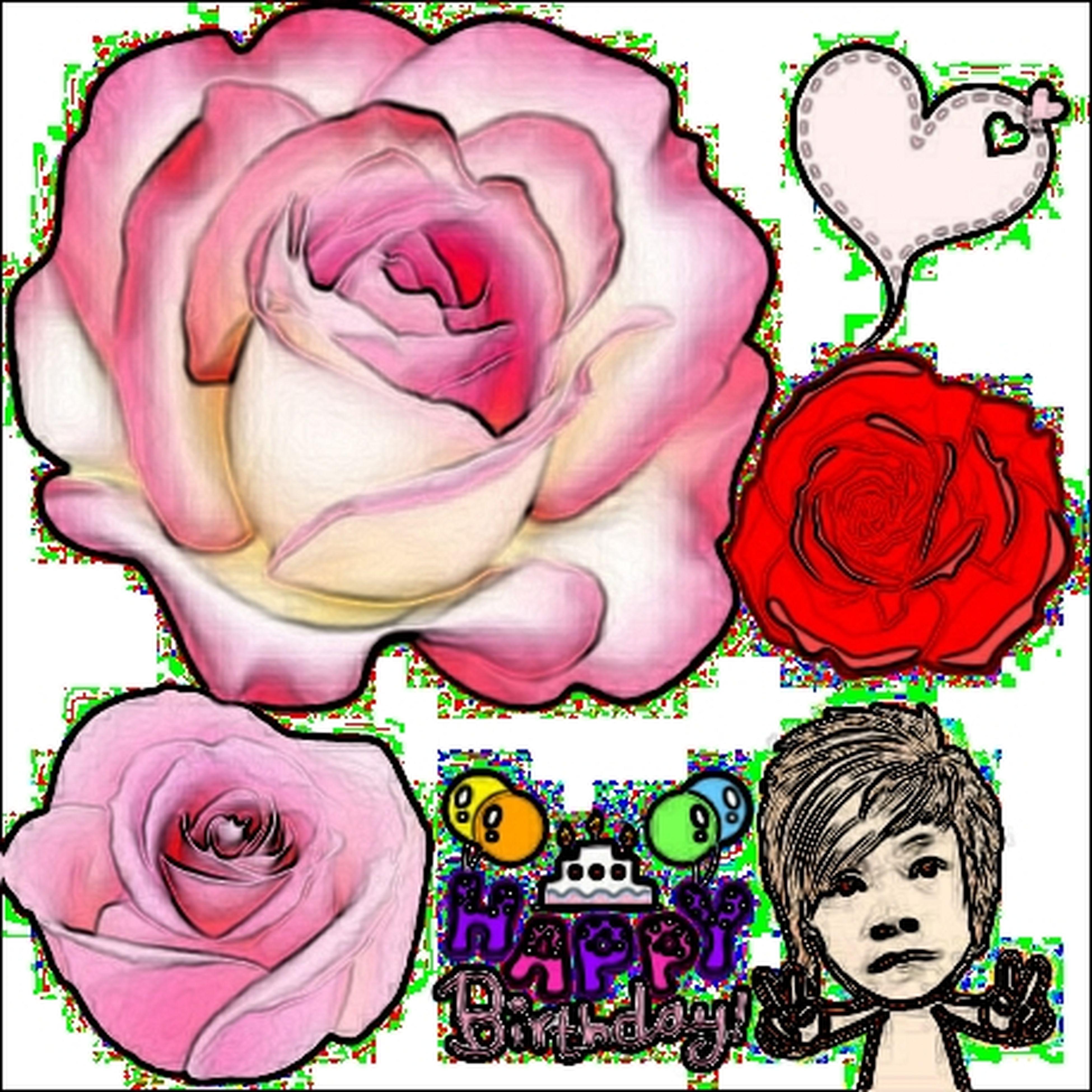 flower, art, art and craft, creativity, indoors, rose - flower, human representation, petal, close-up, pink color, flower head, rose, freshness, floral pattern, decoration, animal representation, fragility, design, bouquet