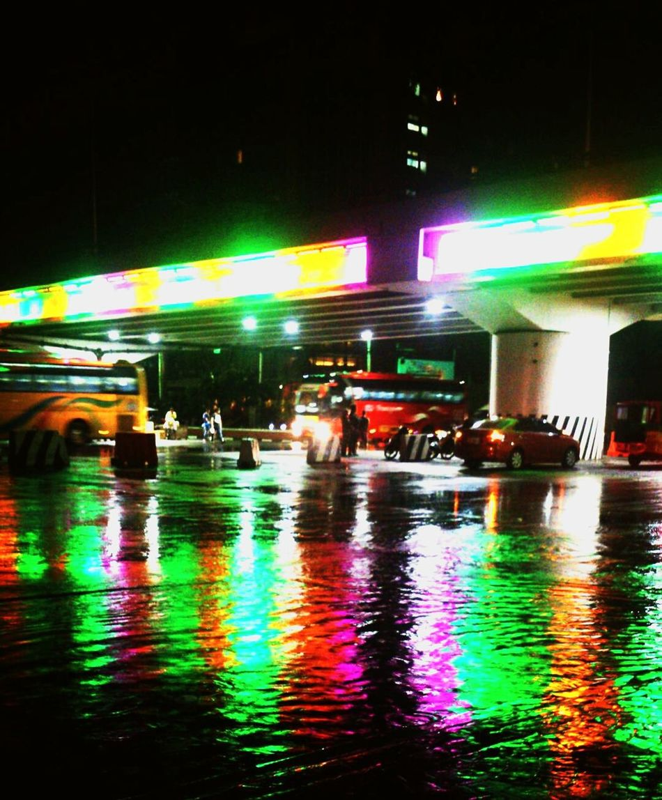 Five thirty in the morning. Chance Encounters Multi Colored Outdoors Night City ManilaPH Fieldscape Colorful ManilaStreetPhotography Streetphotography Citylights