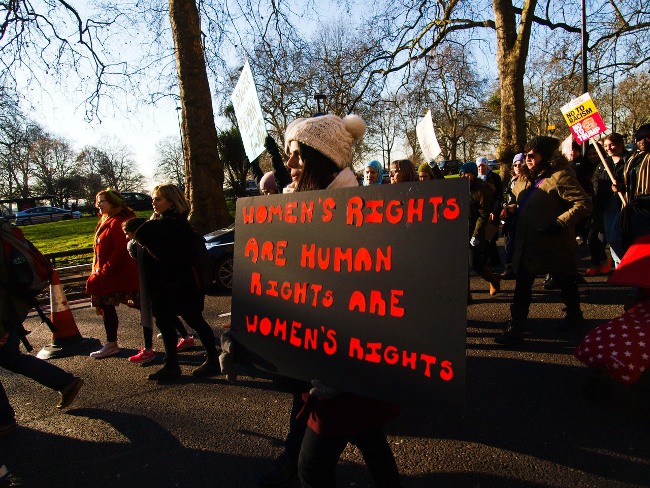"Women's March On London. 21/01/2017 Protest against Donald Trump (American President?) Following his ""Grab Them By The Pussy."" Comments, which many women have not surprisingly found offensive. Many other issues with the new president were covered too, also many men took part in this protest. So today they took to the streets around the planet to protest against President Trump? Here are the shots from the London Women's March........ Donald Trump Equal Rights  Femininity Feminism Grabthembythepussy Olympus President Protest Protesters Sexism Steve Merrick Stevesevilempire Trump Womens March London Womens Rights Womensmarch Zuiko Digital"